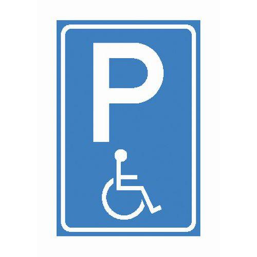 Bekende gehandicapten parkeerplaats bord